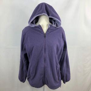 L.L. Bean Lavender Hooded Full-Zip Jacket Size 2X